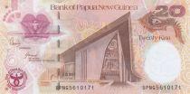 Papouasie-Nouvelle-Guinée 20 Kina Parlement - 35 ans de la Banque Centrale - Série BPNG - 2008