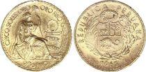 Pérou 5 Soles de Oro - Liberté assise - 1965