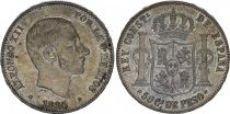 Philippines 50 Centimos Alphonse XII - 1885