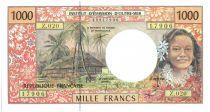 Polynésie Française 1000 Francs Tahitienne - Hibiscus - 2000 alph Z.20