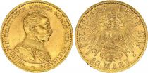 Prusse 20 Mark Wilhelm II - Aigle Impériale 1913 A Berlin