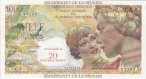 Réunion 1000 Francs Union Française - 1967 Série C.3 - 99366