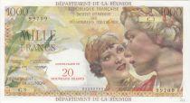 Réunion 1000 Francs Union Française - 1967 Série C.3 - 99709