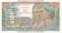 Réunion 500 Francs Pointe-À-Pitre - Surchargé 10 NF - 1971 Série W.1
