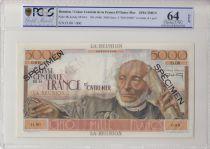 Réunion 5000 Francs Schoelcher - 1946 Spécimen PCGS UNC64 OPQ