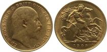 Royaume-Uni 1/2 Souverain Edouard VII - St George terrassant le dragon 1909