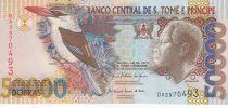 Sao Tomé-et-Principe 50000 Dobras Roi Amador, oiseau - Banque - 2010