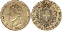 Sardaigne 20 Lire Or Charles-Albert - Armoiries 1834