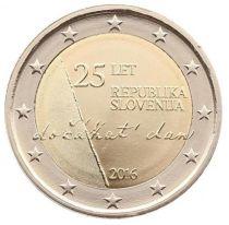 Slovénie 2 Euro Indépendance de la Slovénie 1991 - 2016