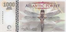 Territoires Equatoriaux 1000 Aves Dollars, Atlantic Forest - Libélulle - 2016