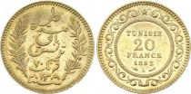 Tunisie 20 Francs Palmes - 1892