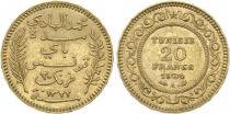 Tunisie 20 Francs Palmes - 1904