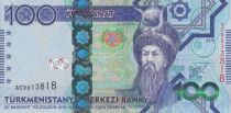 Turkménistan 100 Manat - Oguz Han Türkmen - Palais - 2014