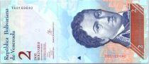 Venezuela 2 Bolivares Francisco de Miranda - Dauphins - 2013