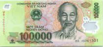 Vietnam 100000 Dong Ho Chi Minh - Temple Van Mieu 2016