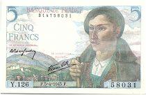 France 5 Francs Shepherd - 05-04-1945 Serial Y.126 - UNC