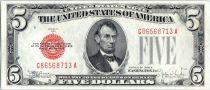Vereinigte Staaten von Amerika 5 Dollars Lincoln - 1928 E Red Seal