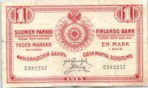 Finnland 1 Markkaa Red - 1915