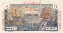 Guadalupa 5 Francs Bougainville - 1946 Specimen XF