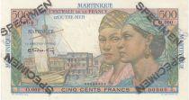 Martinica 500 Francs Pointe-À-Pitre - 1946 Specimen