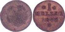 1 Heller  , Léopold II Régent - Lippe Detmold - 1802