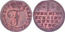 1 Pfennig  , Friedrich Karl August - Waldeck-Pyrmont - 1796 PF