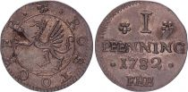 1 Pfenning  , Rostock - 1782 FHB