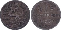 1 Pfenning  , Rostock - 1796 FL