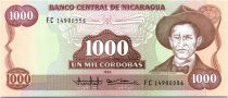 1000 Cordobas Général A. C. Sandino - 1985 (1988)