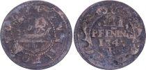 3 Pfennig  , Rostock - 1747 R