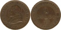 4 Soldi 1867 R Rome - Pape Pie IX