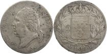 5 Francs Louis XVIII Buste nu - 1817 L