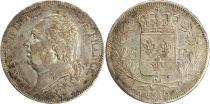 5 Francs Louis XVIII Buste nu - 1819 B