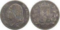 5 Francs Louis XVIII Buste nu - 1821 A