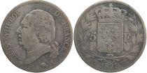 5 Francs Louis XVIII Buste nu - 1821 W