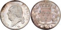 5 Francs Louis XVIII Buste nu - 1822 A