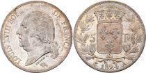 5 Francs Louis XVIII Buste nu - 1824 A - 2 e ex