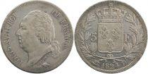 5 Francs Louis XVIII Buste nu - 1824 D Lyon