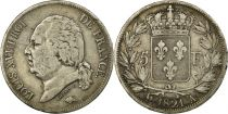 5 Francs Louis XVIII King of France - 1821 A Paris - Silver - VF