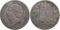 5 Francs Louis XVIII King of France - 1821 W Lille