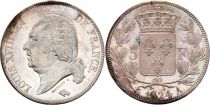 5 Francs Louis XVIII King of France - 1822 A