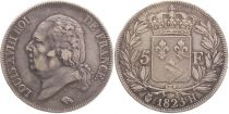 5 Francs Louis XVIII King of France - 1823 H La Rochelle