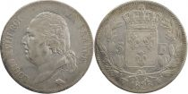 5 Francs Louis XVIII King of France - 1823 W Lille