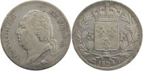 5 Francs Louis XVIII King of France - 1824 D Lyon