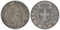 5 Lire Victor Emmanuel II- Armoiries - 1875