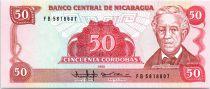 50 Cordobas Général Jose Dolores Estrada - 1985 (1988)