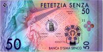 50 Senza 2016 - Banca d\'Sima Senco Polymer Fantaisie