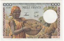 AEF 1000 Francs AEF  and Cameroun - 1957 - SPECIMEN - UNC - P.34