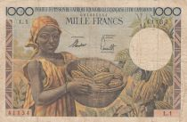 AEF 1000 Francs AEF  and Cameroun - 1957 Serial L.1 - Fine