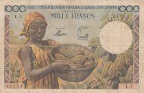 AEF 1000 Francs AEF et Cameroun - 1957 Série L.1 - TB